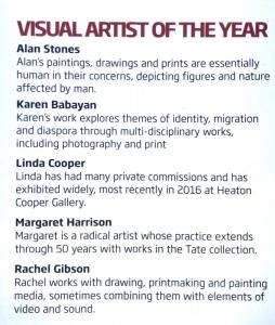 Cumbria Life Visual Arts Awards 2017